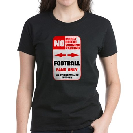 NO PARKING Football Sign Women's Dark T-Shirt