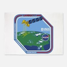 Landsat 7 Program Logo 5'x7'area Rug