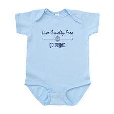Live Cruelty Free, Go Vegan Infant Bodysuit