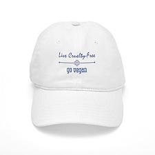 Live Cruelty Free, Go Vegan Baseball Cap