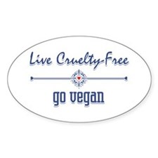 Live Cruelty Free, Go Vegan Decal