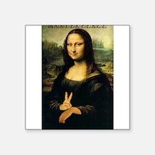 """Unique Mona lisa Square Sticker 3"""" x 3"""""""
