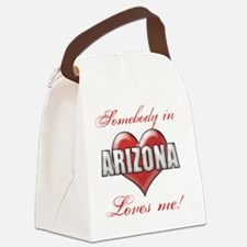 Somebody In Arizona Loves Me Canvas Lunch Bag