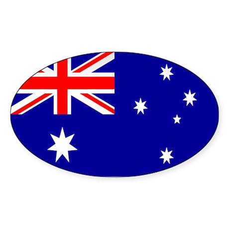 Australia Flag Oval Sticker