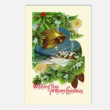 Christmas Bells Vintage A Postcards (Package of 8)