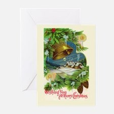Christmas Bells Vintage Greeting Cards (Pk of 10)