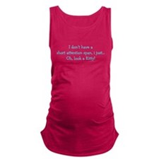 Short Attention Span Kitty Maternity Tank Top