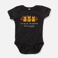 One by One The Squirrels Baby Bodysuit