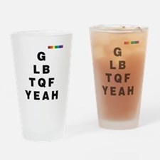 GLBTQF YEAH!  Drinking Glass