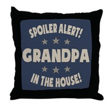 Spoiler Alert Grandpa Throw Pillow