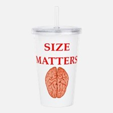 size matters Acrylic Double-wall Tumbler