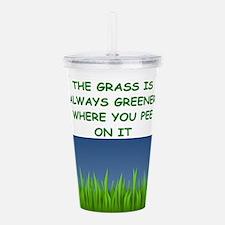 grass Acrylic Double-wall Tumbler