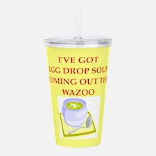 egg drop soup Acrylic Double-wall Tumbler