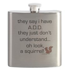 ADD Squirrel Saying Flask