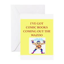 comic books Greeting Card