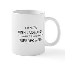 I know Sign Language (black) Mugs