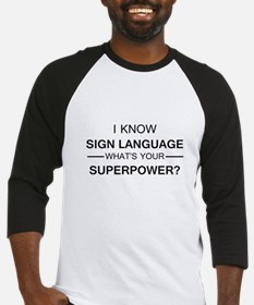 I know Sign Language (black) Baseball Jersey