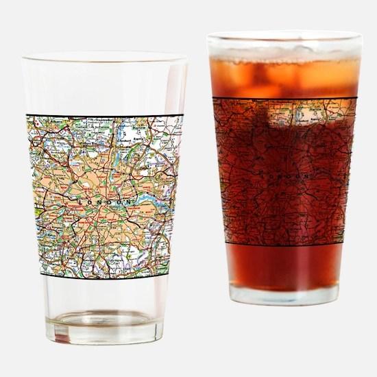 Cute London city Drinking Glass
