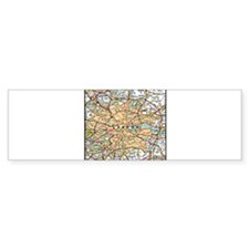 Map of London England Bumper Bumper Sticker