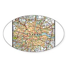 Map of London England Decal