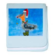 Christmas Pelican baby blanket