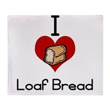 I love-heart loaf bread Throw Blanket