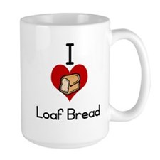 I love-heart loaf bread Mugs