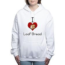 I love-heart loaf bread Women's Hooded Sweatshirt