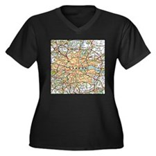 Map of London England Plus Size T-Shirt
