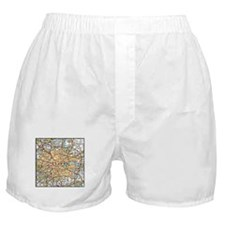 Map of London England Boxer Shorts