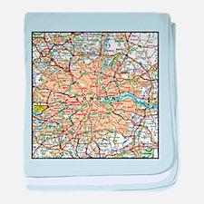 Map of London England baby blanket