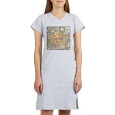 Map of London England Women's Nightshirt