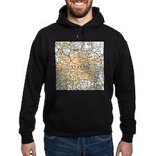 Map of London England Hoodie