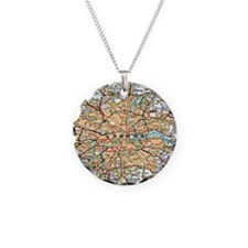 Map of London England Necklace