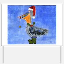 Christmas Pelican Yard Sign