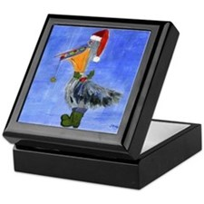 Christmas Pelican Keepsake Box