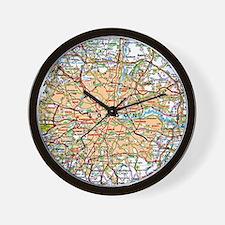 Map of London England Wall Clock