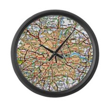 Map of London England Large Wall Clock