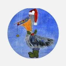 Christmas Pelican Ornament (Round)