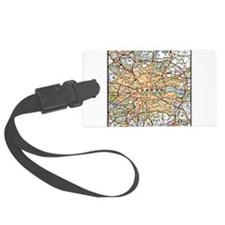Map of London England Luggage Tag