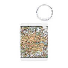 Map of London England Keychains