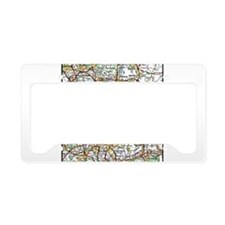 Map of London England License Plate Holder