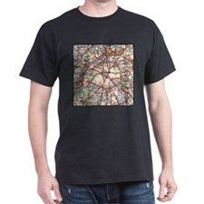 Map of Paris France T-Shirt