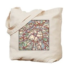 Map of Paris France Tote Bag