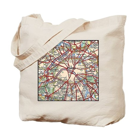 map of paris france tote bag by admin cp51336015. Black Bedroom Furniture Sets. Home Design Ideas