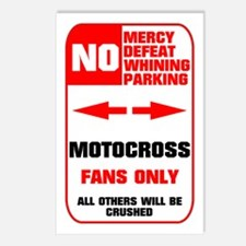NO PARKING Motocross Sign Postcards (Package of 8)
