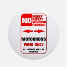 NO PARKING Motocross Sign Ornament (Round)
