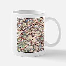 Map of Paris France Mugs