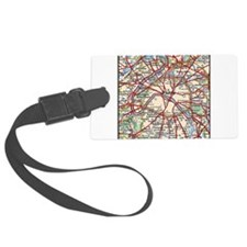 Map of Paris France Luggage Tag