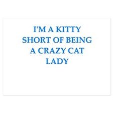 crazy cat lady 5x7 Flat Cards
